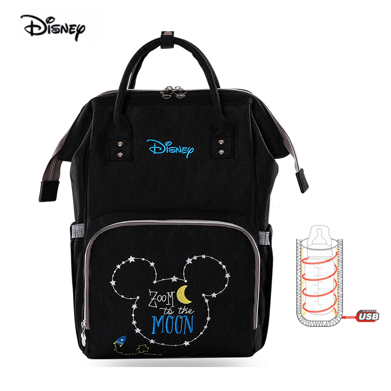 Disney Waterproof Mother Baby Bag Fashion Travel Maternity Backpack For Nappies Embroidery Diaper Bag USD Heating