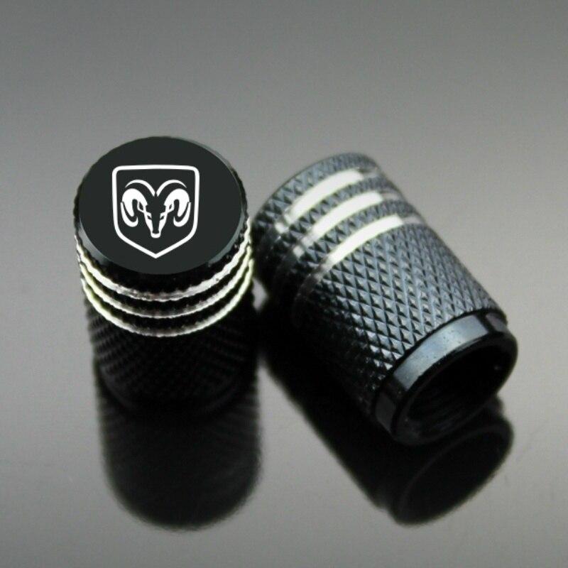 4Piece/set Sport Styling Auto Accessories Car Wheel Tire Valve Caps Case For Dodge Dodge Ram Dodge Charger Dodge Ram 1500 2500