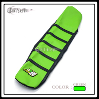 Green And Black Rubber Long Motorcycle Soft Grip Gripper Soft Seat Cover For KX KX85 KX100