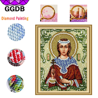 GGDB 5D DIY Diamond Painting Religious Madonna Knitting Needles For Needlework Handicraft Embroidery Stitch Cross For
