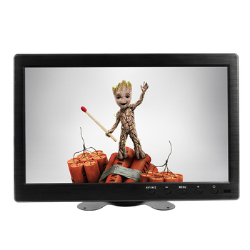 10.1 polegadas LCD full HD Monitor IPS 1920 * 1200 Tela colorida de 2 canais de entrada de vídeo com mini monitor pequeno BNC / AV / VGA / HDMI 1