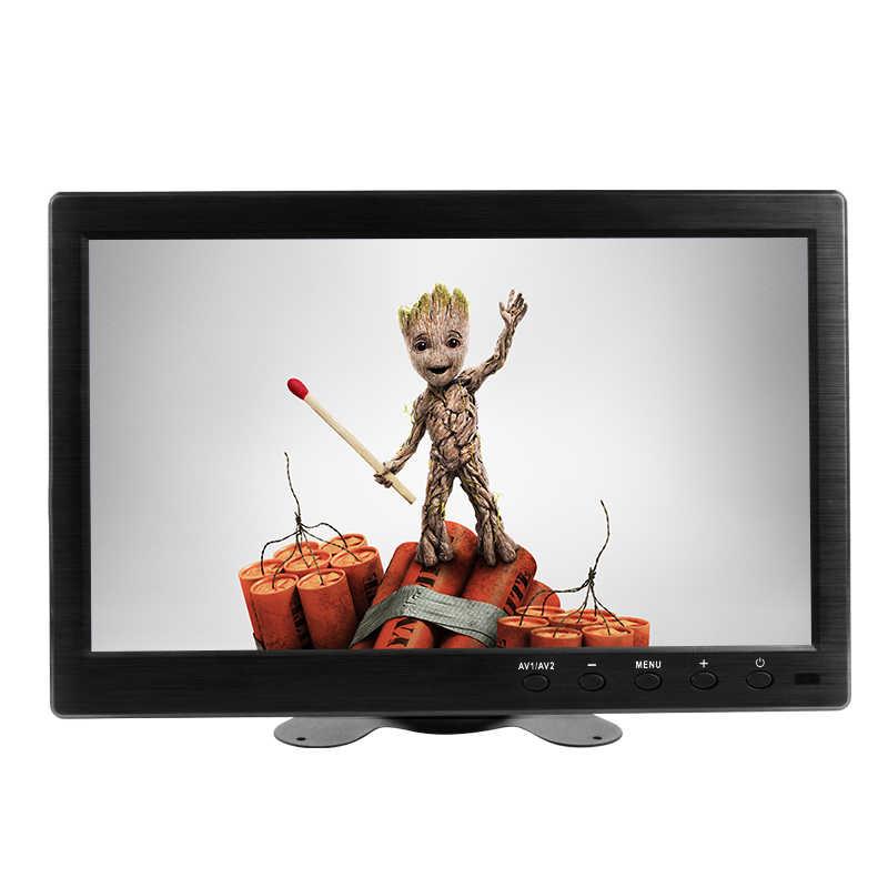 10,1 pulgadas lcd full hd portátil monitor de ordenador pc ips 1920*1200 pantalla con BNC VGA AV HDMI mini monitor de juego pequeño