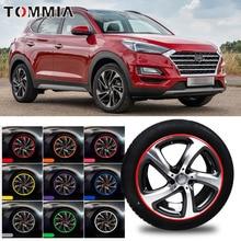 8M Car Wheel Hub Rim Edge Protector Ring Tire Strip Guard Rubber Decals For Hyundai Tucson