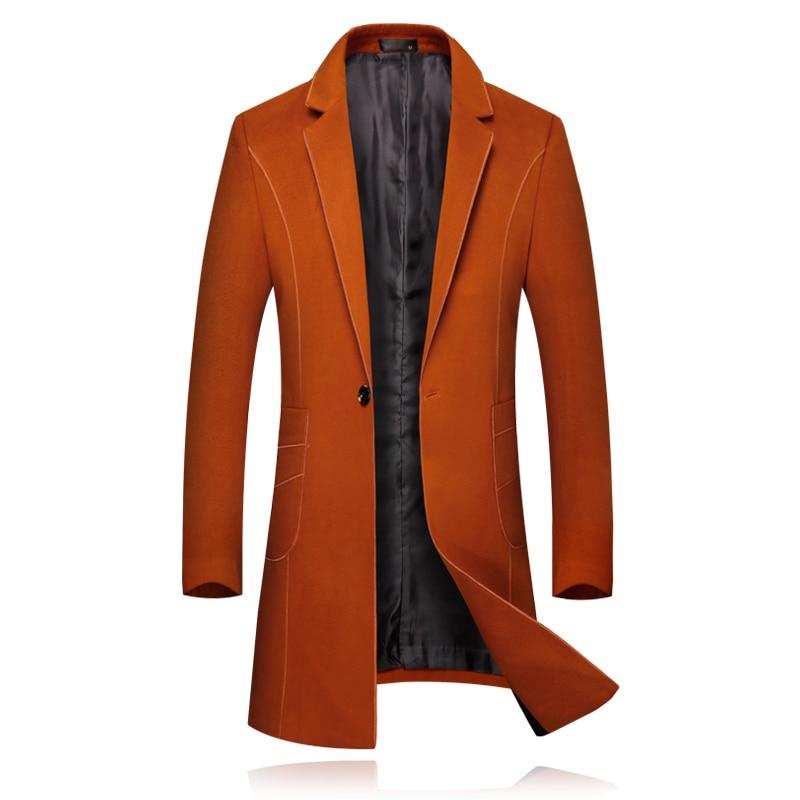 Inverno Alta Nero Confortevole Modo Cappotto Degli Di Uomini Ed Fascia  Elegante Affari Arancione Del Mens Nero Vestito Lana Giacca ... 1b78b30fb4c