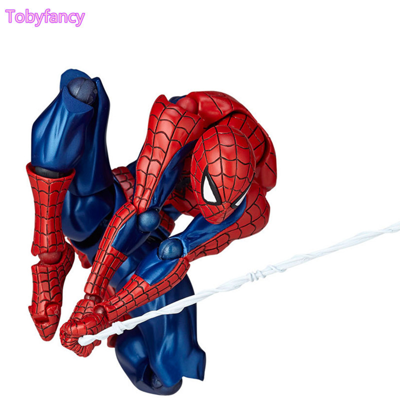 Spiderman Revoltech 160mm PVC Action Figure Anime Spider-man Collectible Model Doll Toy Movable Figurine superhero spiderman movable figure spider man homecoming pvc action figure model toy boxed
