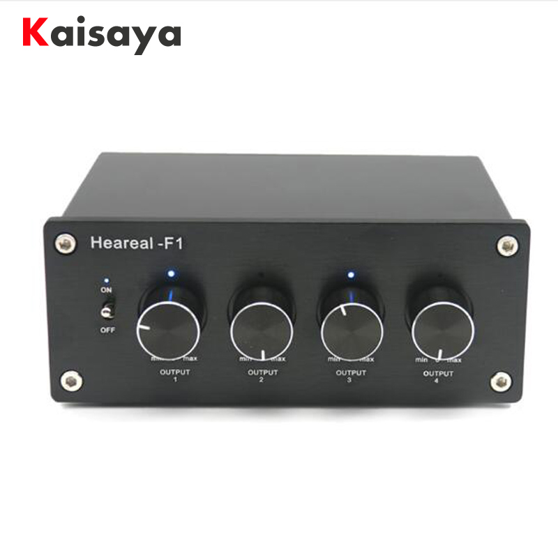 1 Input 4 Output Lossless Audio stereo Signal Switcher Switch Splitter Selector AC 220V for amplifier audio цена