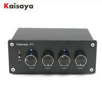 1 Input 4 Output Lossless Audio stereo Signal Switcher Switch Splitter Selector AC 220V for amplifier audio