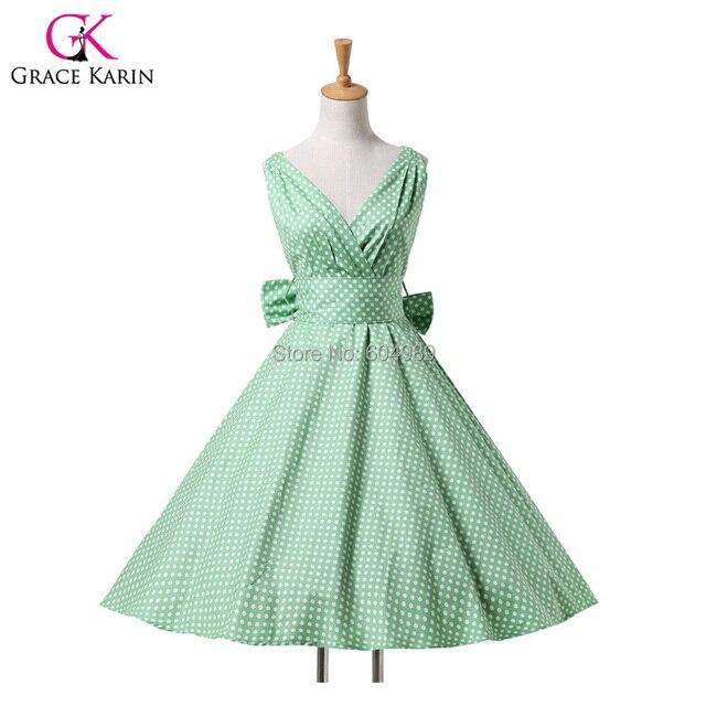 2015 Women Maggie Tang Cotton vestidos 50s 60s Vintage Rockabilly ...