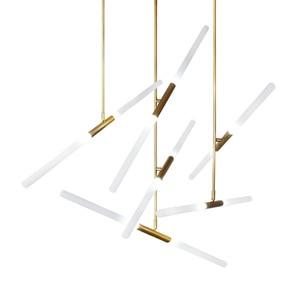 Image 5 - Modern LED Chandelier lighting Nordic Iron and Glass Hanging lights For living room bedroom Restaurant Gold/Black Pendant lamp