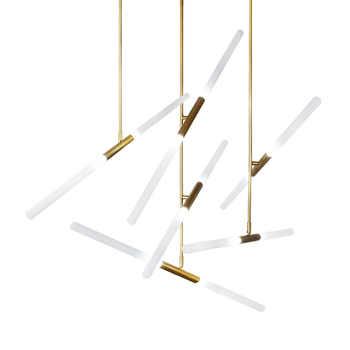 Modern LED Chandelier lighting Nordic Iron and Glass Hanging lights For living room bedroom Restaurant Gold/Black Pendant lamp