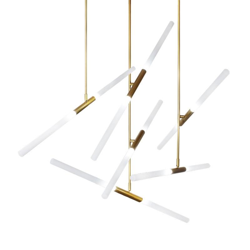 Image 5 - Modern golden/black LED pendant lights Aluminum hanging lamp for Nordic living room bedroom restaurant suspension luminaire-in Pendant Lights from Lights & Lighting