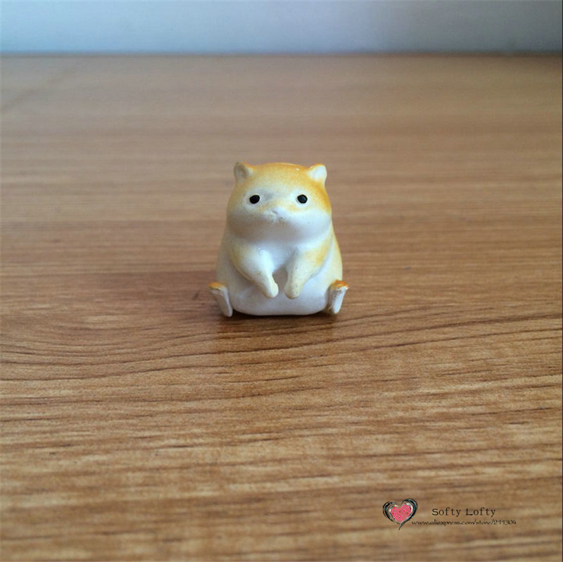 Free shipping 1 pc Retail Cute hamster Mini Figure PVC toy succulent plant cake car office decoration party supply kids gifts