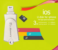 USB FLASH DRIVE Style TF Micro Sd Card Reader Usb 3 0 For Apple Iphone 6s