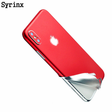 Syrinx Full Body Candy Color Decal Sticker Wrap Skin Case Cover For iphone 6 6s 7 8 Plus X XS XR MAX Ice Film for 6 6s Protector стоимость