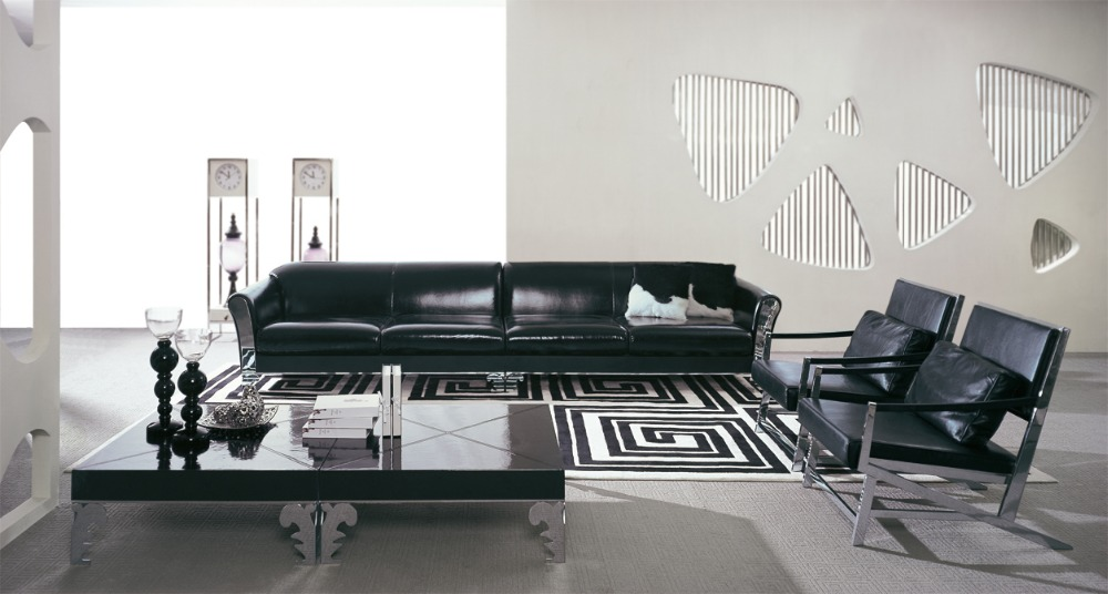 Genuine Leather Modern Living Room Sofas Shipping To Your Port PROMOTION MODEL Post Chesterfield Sofa
