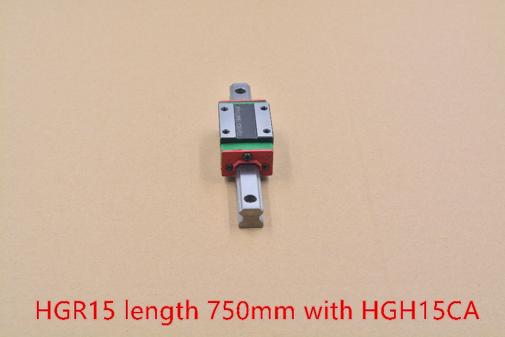 ФОТО HGR15 linear guide width 15mm length 750mm with HGH15CA linear motion slide rail  for cnc xyz axis 1pcs