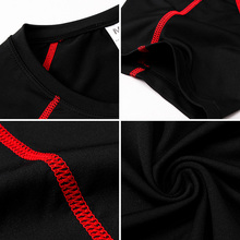 New 2018 Soccer Running shirt Quick Dry Compression Fitness Tight Top Tee Short Sleeve Gym Sport Shirt Men Rashgard Sportswear