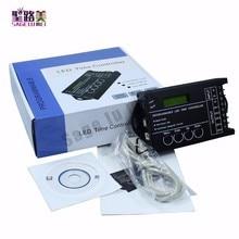 Tempo programável rgb led controlador dimmer tc420 dc12v/24v 5 canal saída total 20a ânodo comum programável