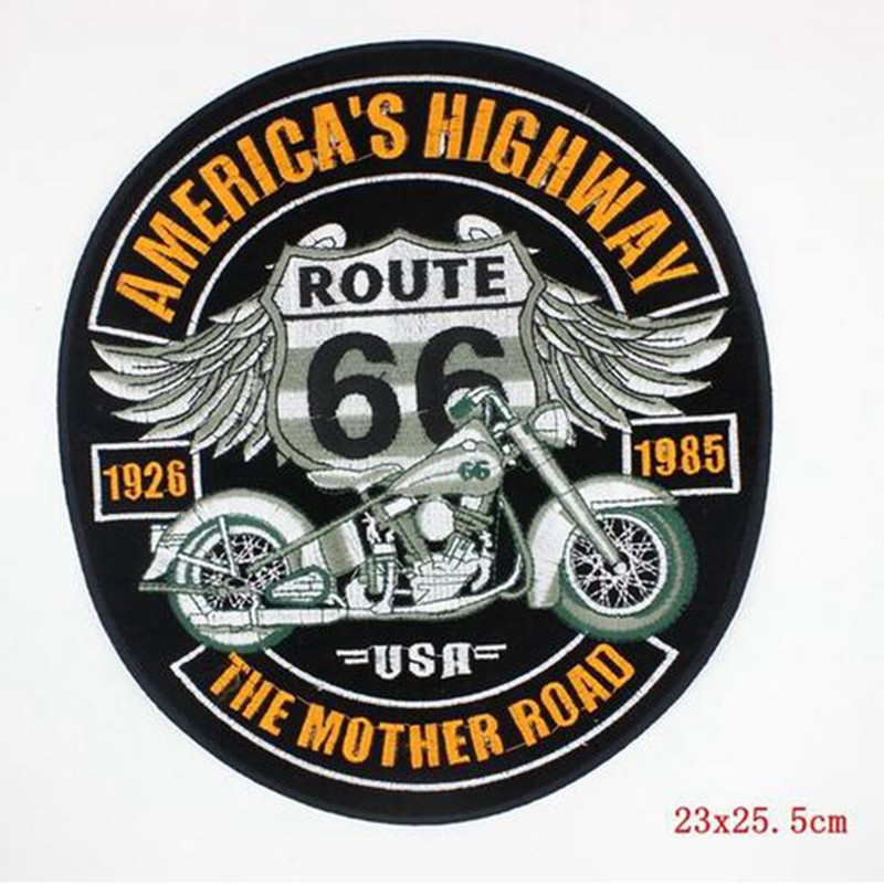 LARGE HUGE BIG WHITE DRAGON MOTORCYCLES Embroidered Iron on Patch Free Postage