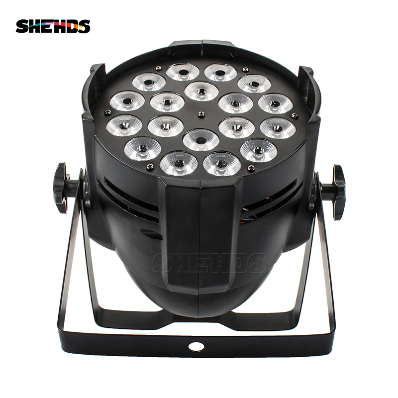 SHEHDS Aluminum Alloy LED Par 18x18 6in1 RGBWA+UV Lighting In Alluminio DMX 512 Stage Light Impermeable IP20 Dj Di Illuminazione