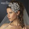 Luxo Elegante Do Vintage Jóia Do Casamento de Noiva Tiara Tiara Do Casamento Rainha Princesa Headpiece acessórios para o Cabelo