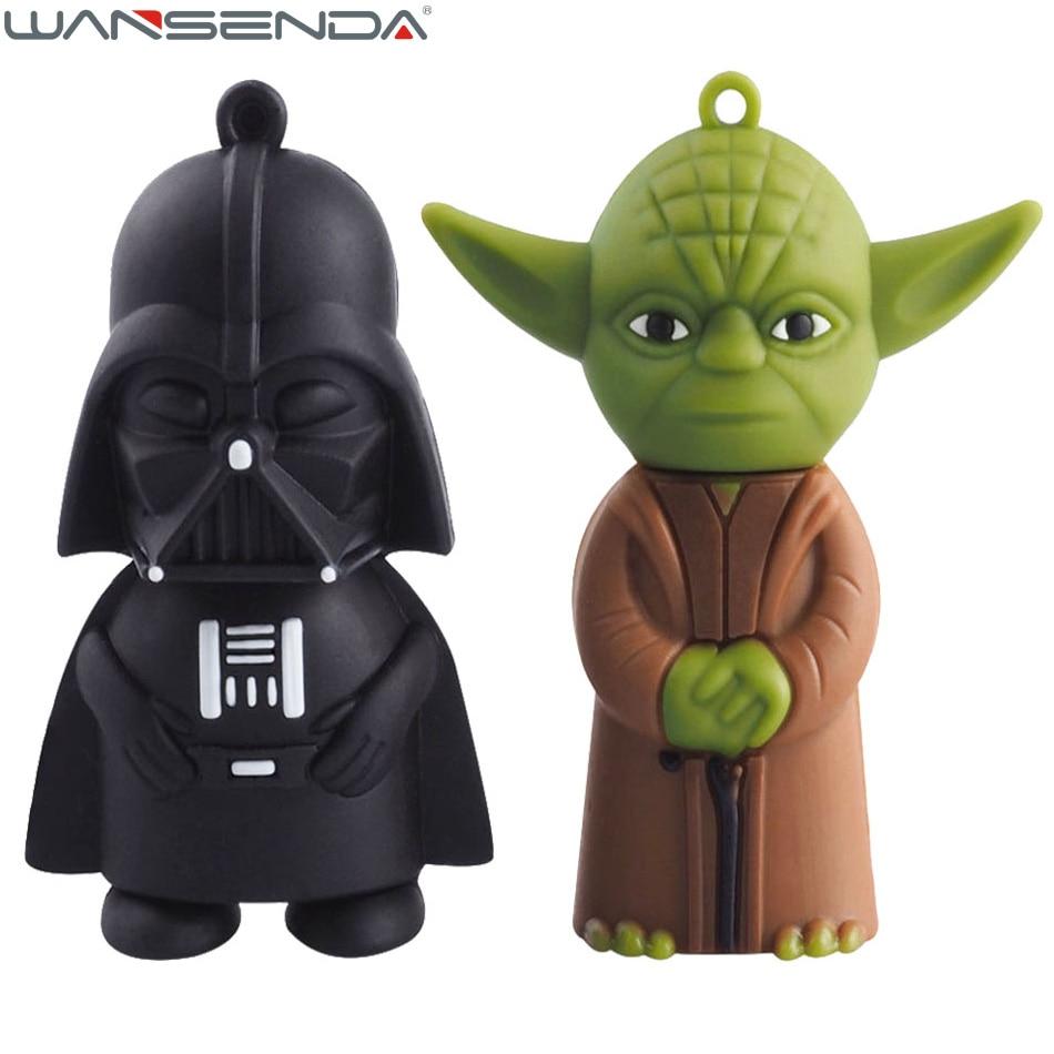 Star wars Yoda unidad flash usb pen drive de 128 GB 4 gb 8 gb 16 gb 32 gb 64g Oscuro Darth Vader unidad flash pendrive memory stick u disco