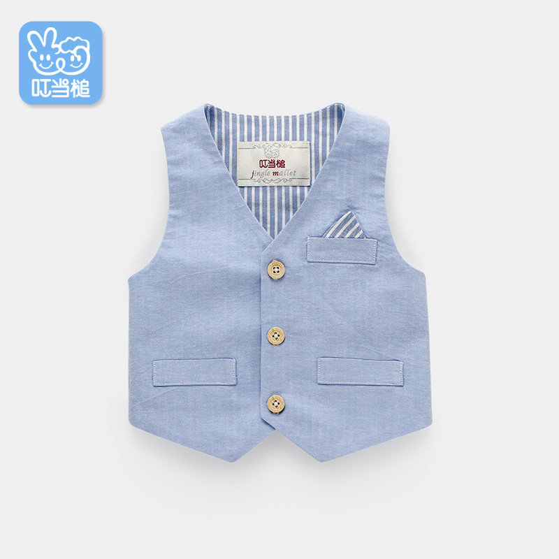 Dinstry boy and girl spring autumn children's vest handsome baby clothes