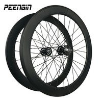 700C full carbon fiber U Shape 25mm wide 60mm clincher track bicycling wheels with firm paper packages lower shipping freights