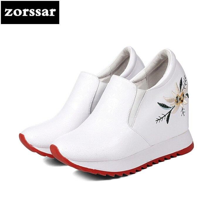 Altura Casuales Botas Otoño Aumento Tacón Mujer Tobillo blanco Escondido Primavera Cuñas Plataforma {zorssar} Deporte Zapatillas Mujeres Zapatos De Negro 7Yd1wzqz