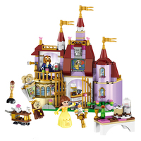 37001 Beauty And Beast Princess Belle S Enchanted Castle Compatible With Legoed Girl Friends Building Blocks