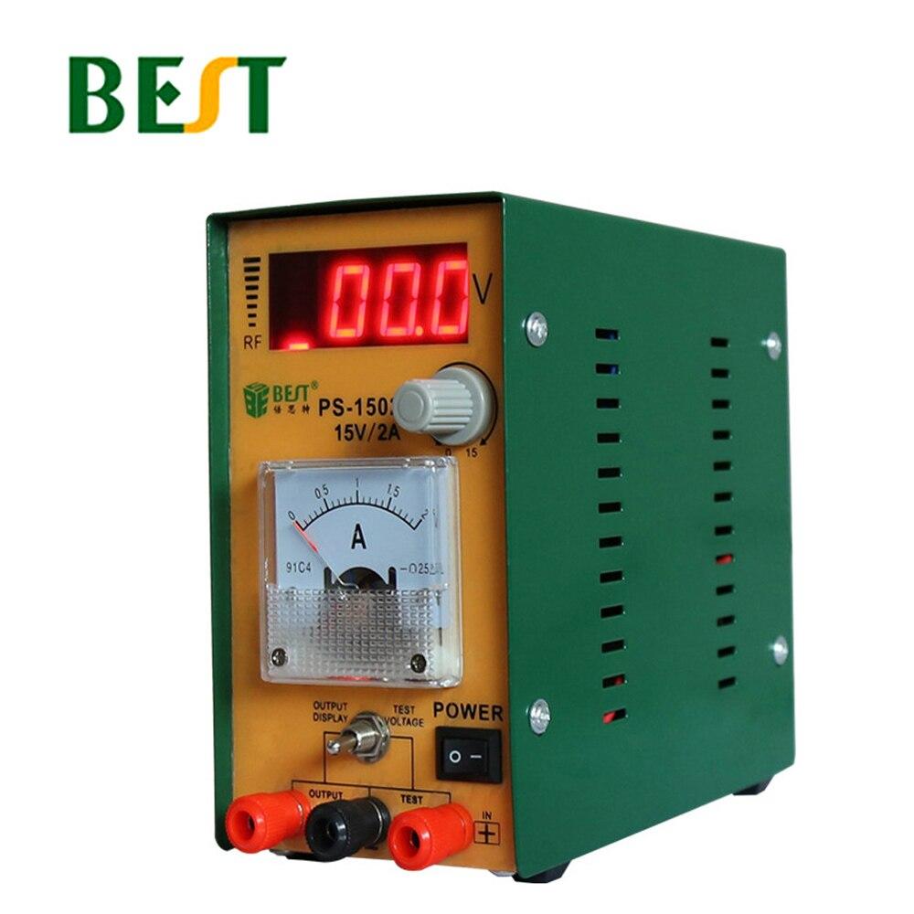 Meilleur 1502 S réglable alimentation Maintenance DC régulé LED d'alimentation affichage numérique Table indicateur de courant aiguille