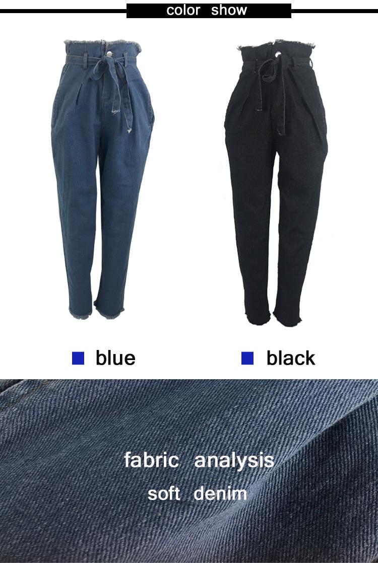 Women High Waist Jeans Sexy Jeans denim Harem Pants jeans womens High Streetwear loose Pants Black Jeans Women Plus size 2