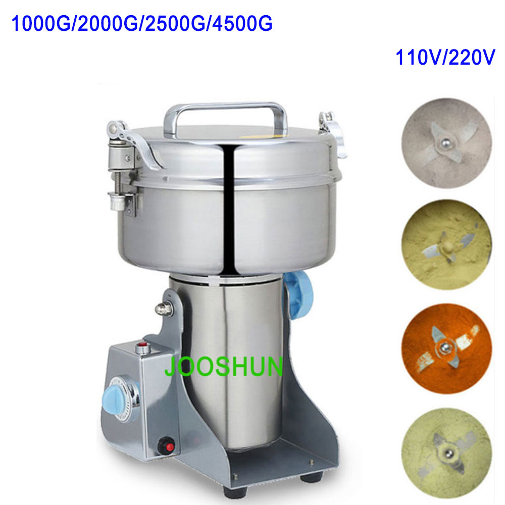 2000G Multifunctional Mill Grinding Machine Electric Grinder for Dry Herb Flour Coffee Pulverizer Pet Food Spicy