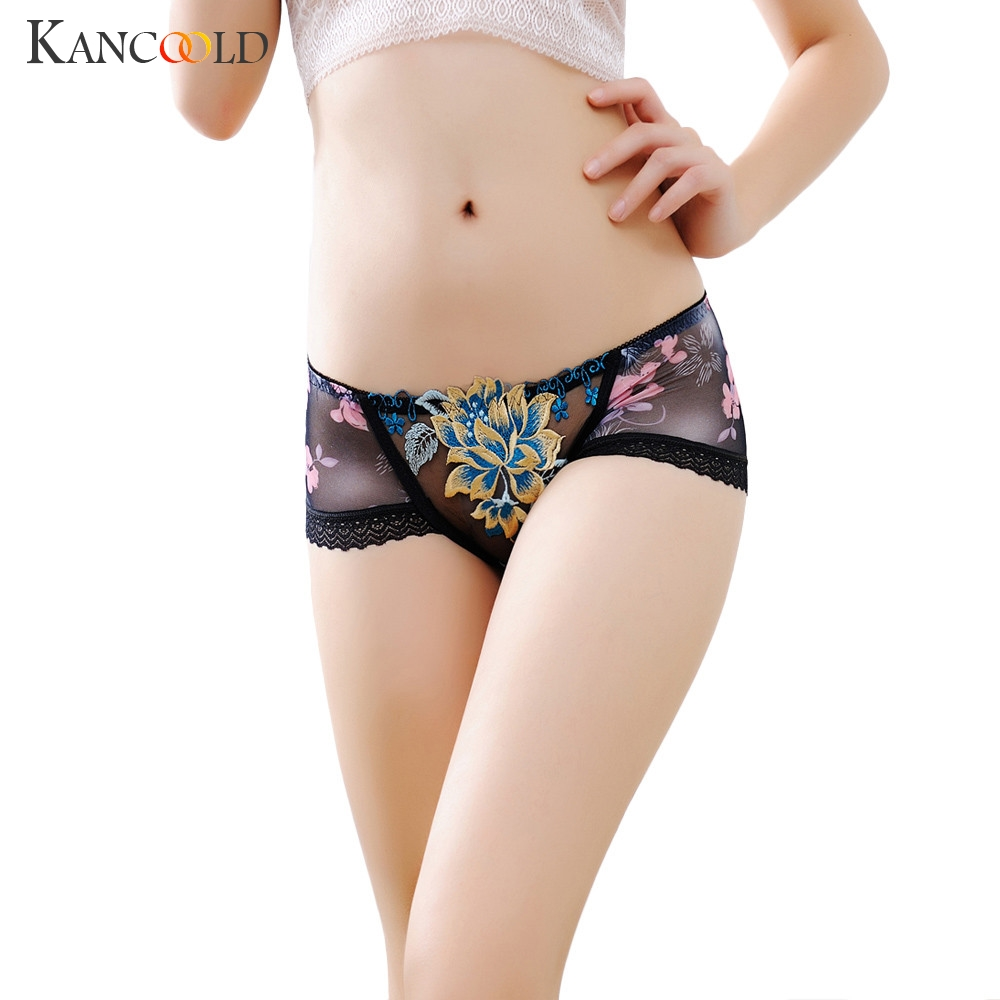 Women Modal underwear seamless briefs sexy women's Panties full transparent lace seamless plus size women underwear panty 227
