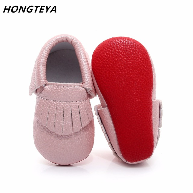 839d95d163f Hongteya new arrival red bottom baby shoes first walkers PU leather newborn  infant moccasin for boys girls 0-2Y