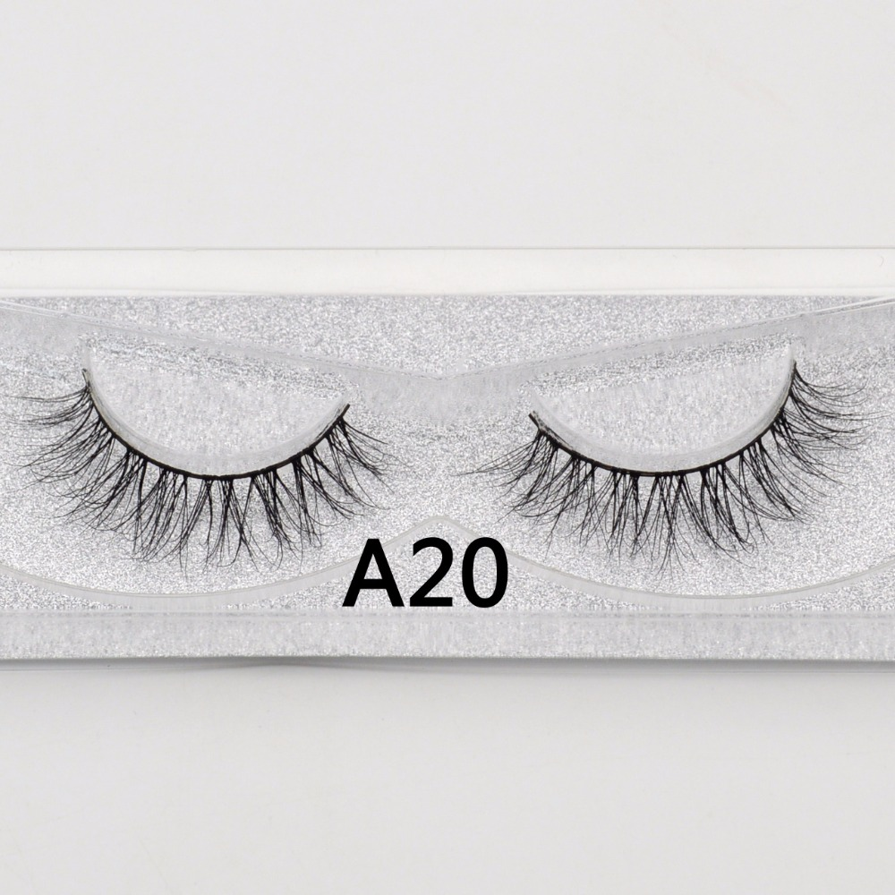e7f5f6d8192 Visofree false eye lashes Natural 100% handmade Crisscross soft 1 pair box glitter  packing False Eyelashes 3D Mink lashes A20