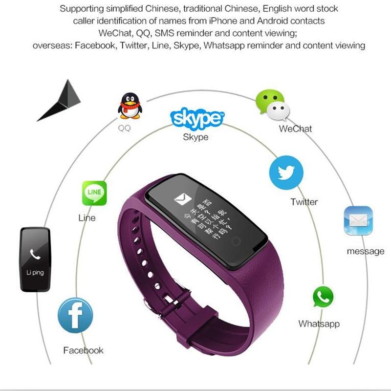 imágenes para S1 Heart Rate Monitor Inteligente Wristband Pulsera de Fitness Actividad Rastreador Podómetro Impermeable para IOS y Android Teléfono pk Mi Banda