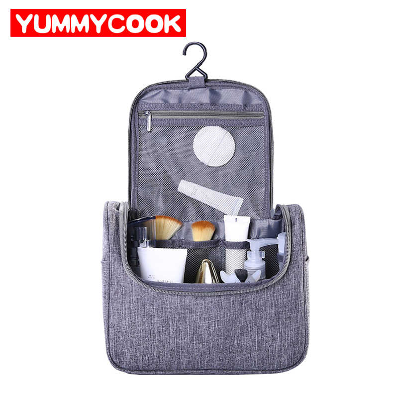 Folding Cosmetic Bag Man Hanging Toiletry Bathroom Accessories Bag Cable Electronic Gadgets Organizer Suitcase Storage Supplies