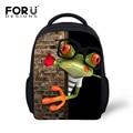 Forudesigns pequeño 12 ''baby boys school bolsa de cocodrilo rana niños mochila para las niñas lindo de los niños de jardín de infantes mochila
