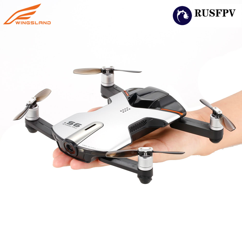 Wingsland S6 Pocket Selfie <font><b>Drone</b></font> WiFi <font><b>FPV</b></font> With 4K UHD <font><b>Camera</b></font> Comprehensive Obstacle Avoidance RC Quadcopter image