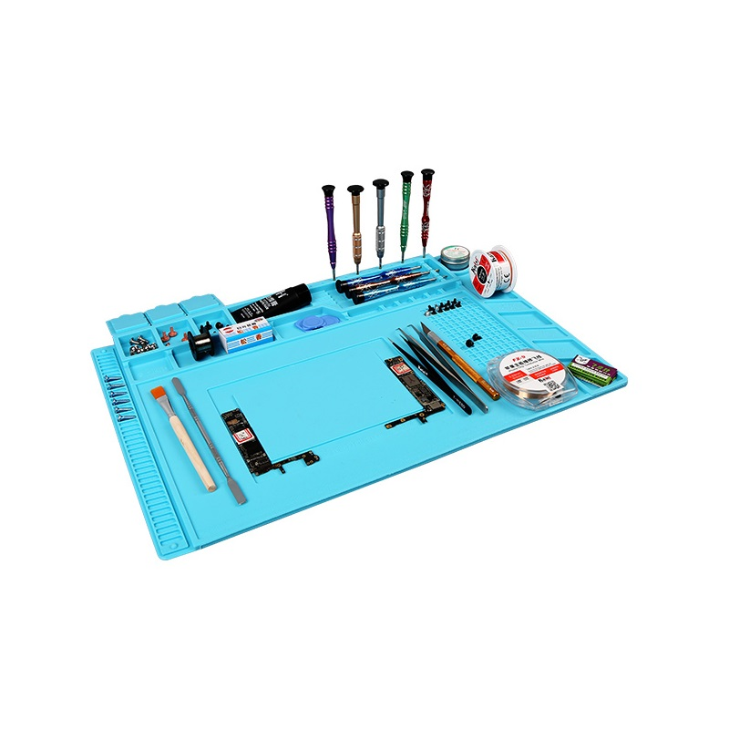 45*30cm Heat Insulation Silicon Pad repairing Mat Maintenance Platform for BGA Soldering Repair tool with Magnetic Section комплект футболка шорты tom tailor комплект футболка шорты