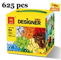 Wange 58231 625 Pcs Bulk Brick Building Blocks 625pcs DIY Creative Bricks Toys For Children Educational