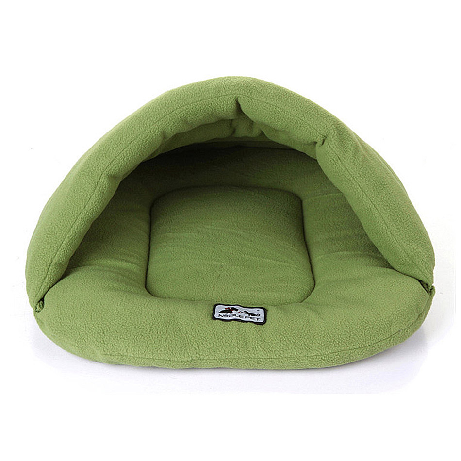 Green Pet Dog Fleece Sleeping Bags Nest Bed Mats Soft Sofa Cat House Kennel Animal Kitten Waterloo Litter Puppy Winter Cushion