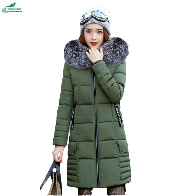 New model penebalan Bulu kapas mantel jaket wanita ukuran besar katun  berkerudung pakaian musim dingin hangat ab2e0d9ee8