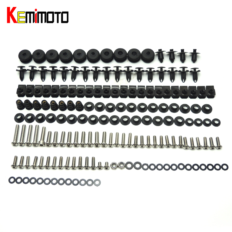 KEMiMOTO R6 Motorcycle Complete Full Set of Fairing Bolts Bolt Kit Body Screws For Yamaha YZF-R6 2006 2007 R6
