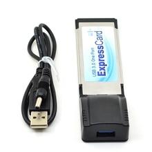 34 34mm mm Express card Expresscard para USB 3.0 USB3.0 laptop notebook Adaptador de Cartão 5 5gbps