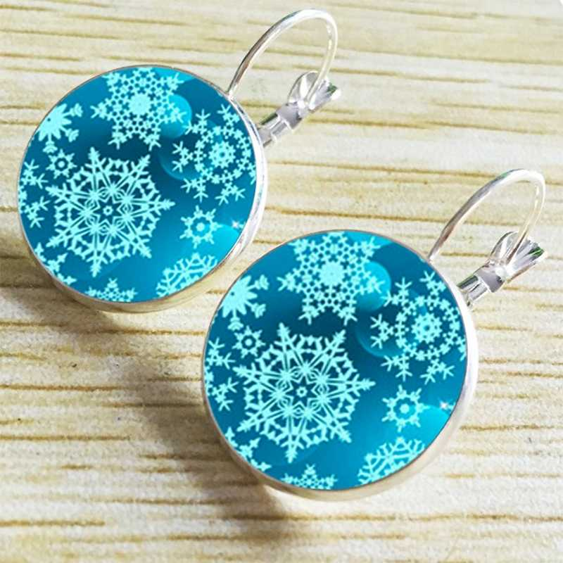 Blue Snowflake Pattern Drop Earring Ethnic Indian Earrings for Women Jewelry Brinco Argola Wholesale Dropshipping Jewellery
