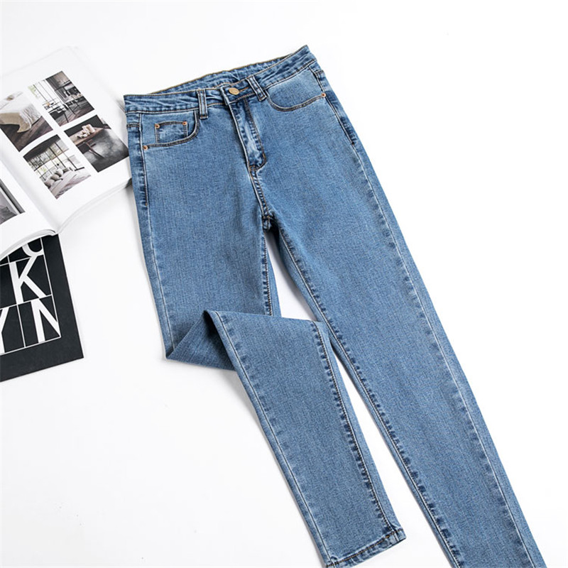 JUJULAND Jeans Female Denim Pants Black Color Womens Jeans Donna Stretch Bottoms Skinny Pants For Women Trousers 8175 10
