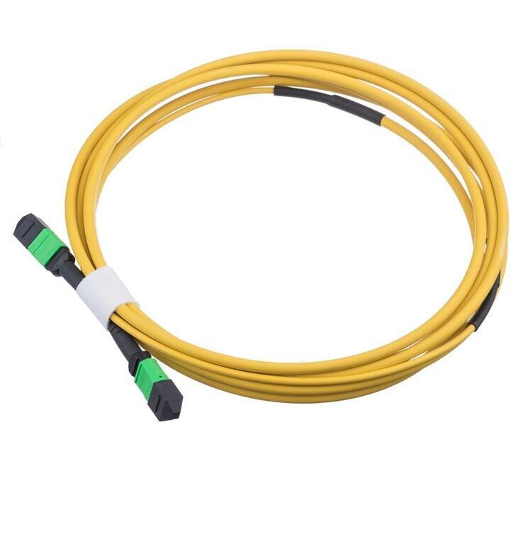 3.0mm MPO Cable 12 Cores MPO APC to MPO APC Singlemode Fiber Optic Patch Cord3.0mm MPO Cable 12 Cores MPO APC to MPO APC Singlemode Fiber Optic Patch Cord