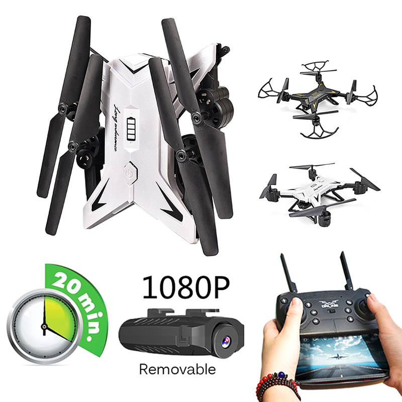 RC Drone with HD 1080P Camera, Wide Angle WiFi FPV Quadcopter Real-time Transmission High-Middle-Low Speed Headless Mode image